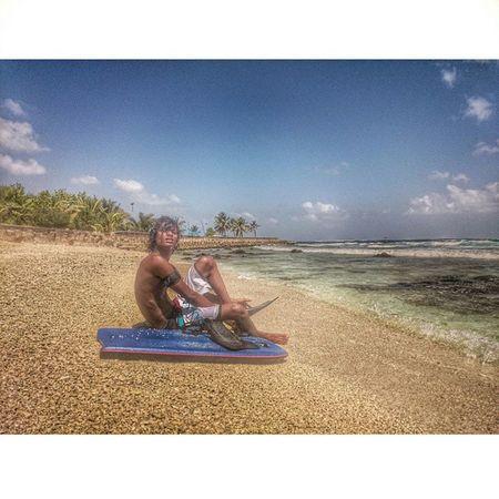 Shau Surfe Sea Sky Maldives raalhugandu rannamaari point varunulaa backdoor beach improvement body bord sciencezero oceanearth mantablade calm hangloose moonstone