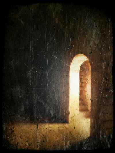 Distressed exit. Gateway Arched Doorway Light And Shadow Light Light Through A Doorway Offset Atmospheric Light Copy Space Mysterious Place Awehaven Creative
