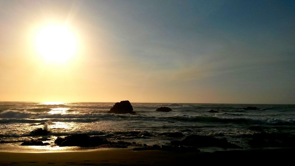 Sea Sun Sunset Horizon Over Water Water Reflection Nature Beauty In Nature No People Wave Travel Destinations Colorful Sunsetlover Chile Streamzoo Photo Of The Week EyeEm Best Shots Landscape_Collection Instagramer Eyeemphotography Holiday Holidays Landscape Vacations Southamerica