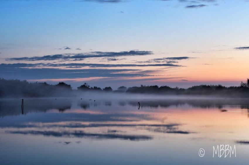 Foggy Fridaymorning Reflection Water Nature Sky Tranquility Beauty In Nature No People Lake Scenics Tranquil Scene Outdoors Waterfront Sunset Landscape Day Fog Foggy Morning Sunrise Early Morning Westkapelle Cloud - Sky Blue Sky