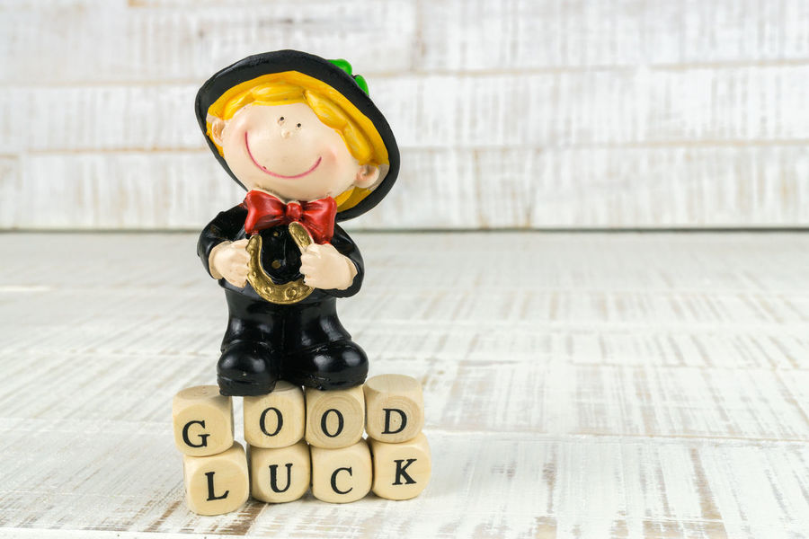 Chimney Copy Space Happy People Horseshoe Luck Lucky New Silvester Talisman Card Chimney Sweeper Fortune Good Greetings Lucky Charm Message No People Sweeper Text Wooden Background Year