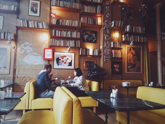 EyeEm Selects Indoors  Sitting Adult People Full Length Lifestyles Discover Your City Samsung Photography Light And Shadow The Week On EyeEm Paris Retrostyle Coffee Shop France