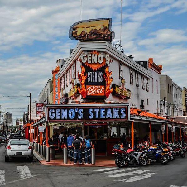 Much, much Latergram , cruising around Philly with @1stwitit, looking to get some answers from Meek. @GenosSteaks GenosSteak Cheesesteak Philadelphia PhillySouthPhilly PassyunkAvenue