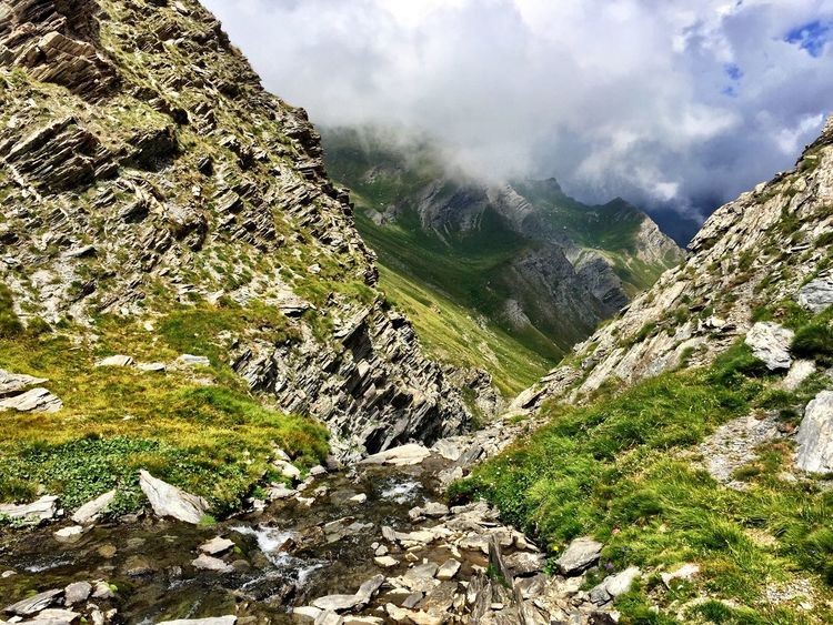Italy Cuneo Valli Cuneesi Mountains Pontechianale Enjoying Life Cloud Mountains