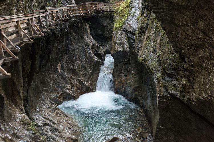Hohe Tauern Kapruner Ache Klamm Pinzgau Salzburger Land Sigmund-Thun Klamm Bewegung Kaprun Schlucht Tag Wandern Wasser Österreich
