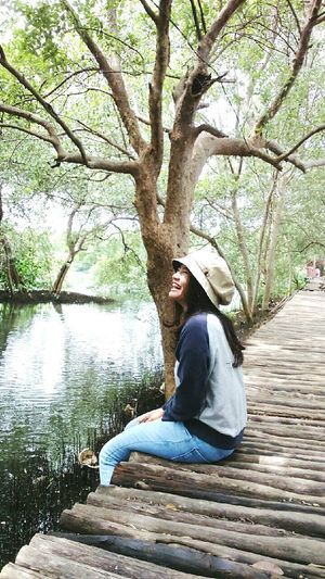 candid Exploreindonesia Mangroves Happy People Happygirl Holiday GoodTimes Live, Love, Laugh Wonderful Indonesia Hot Weather