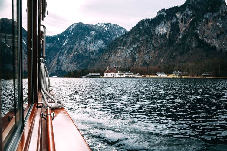 Mountain Nautical Vessel Water Transportation Mode Of Transport Mountain Range Sailing No People Sky Sea Travel Destinations Scenics Day Beauty In Nature Nature Outdoors Boat Deck Bavaria Alps Watzmann Bartholomew Culture Weroamgermany Königssee Sublime Landscapes