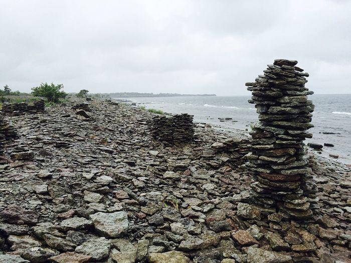 Ocean Stones Coastline Interesting Pieces Nature Landscape Ocean View Lonely Rough Sea Rough Artifacts Monuments