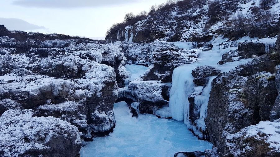 EyeEm Selects Snow Winter Cold Temperature Nature Outdoors No People Landscape Beauty In Nature Scenics Iceland Waterfalls Braurfoss