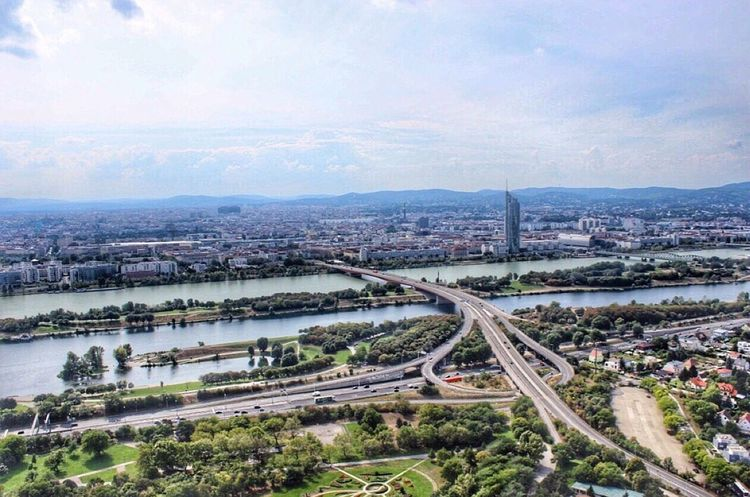 View of Vienna from the Danube Tower Vienna Enjoying The View Austria Wanderlust Danube Panorama Panoramic View Clouds And Sky Hello World EyeEm Best Shots