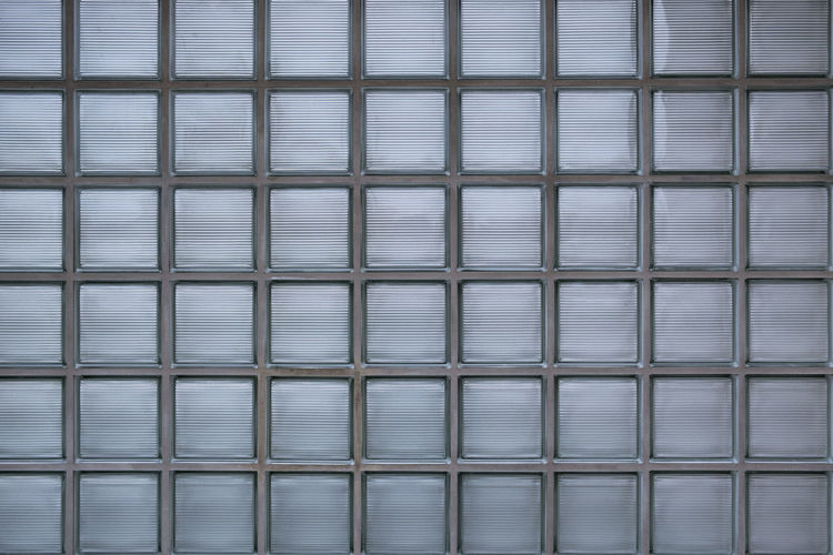 Full Frame Shot Of Glass Brick Wall