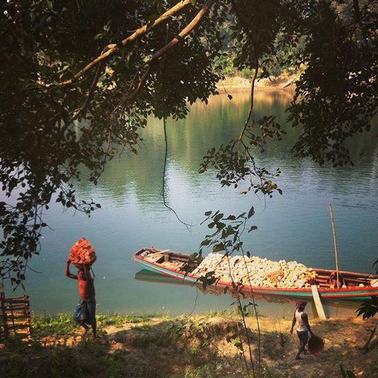 Daily life at Kaptai lake ! Js Jashimsalam Photographer Photojournalism Documentary Kaptai Lake Bricks Worker Water Tree Instagram Boat Everydaybangladesh