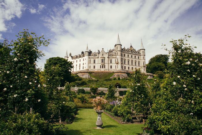 Dunrobin Castle Scotland Architecture Building Exterior Built Structure Cloud - Sky Day History No People Outdoors Scottish Highlands Sky Tourism Travel Destinations Tree