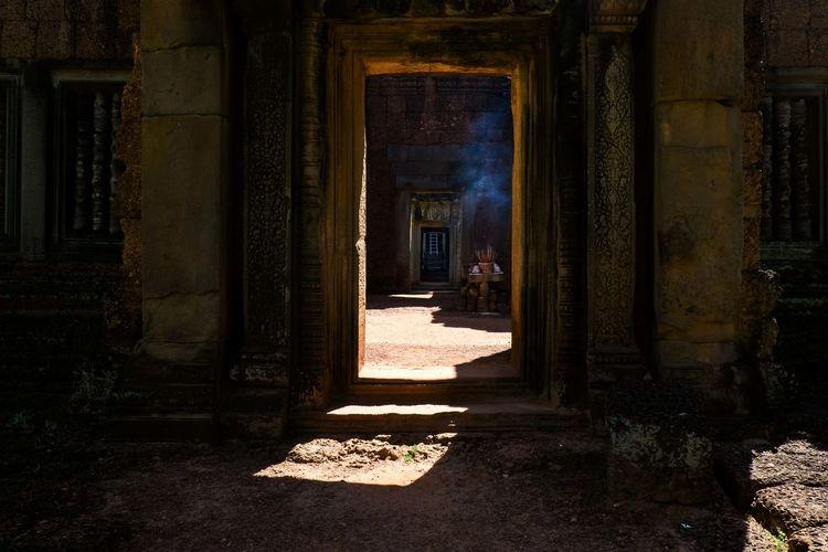 Entrance of corridor