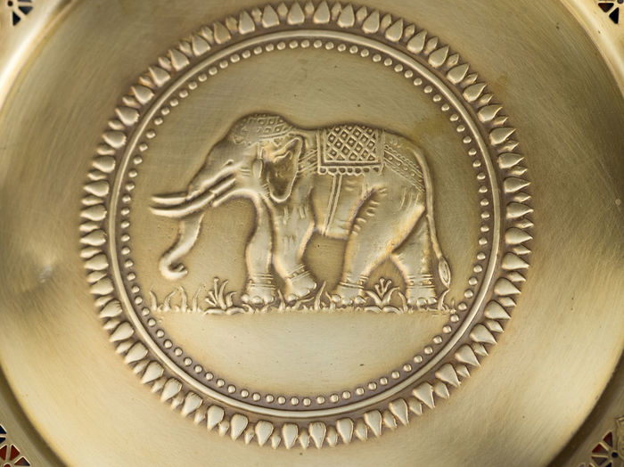 Branch Brass Close-up Elephant Food Waste Gold Colored Kitchen Tools Spirituality Tradition Vacations