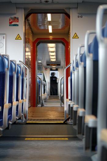 Day Empty Train Indoors  Inside The Train No People Public Transportation Subway Train Train Transportation Travel Vanishingpoint