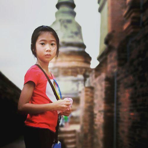 ขอพรไหว้พระคะ Travel Architecture Built Structure One Person Outdoors Landscape Child Architecture Building Exterior Thailand
