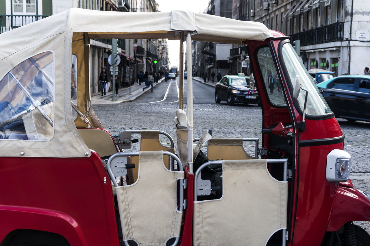 Rickshaw On Road In City