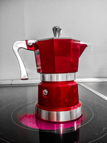 Red Preparation  Preparation  Preparing Coffee Coffee Coffee Time Kitchen Mokka EyeEm Selects EyeEm Gallery EyeEm Best Shots Eyeem Kitchen Eyeemphotography Caffee☕ Caffee Cafe Day Close-up No People Espresso Maker Eyeem Colors Morning Coffee