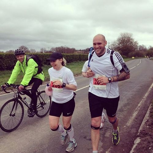 Tauntonmarathon  still smiling at 20 miles