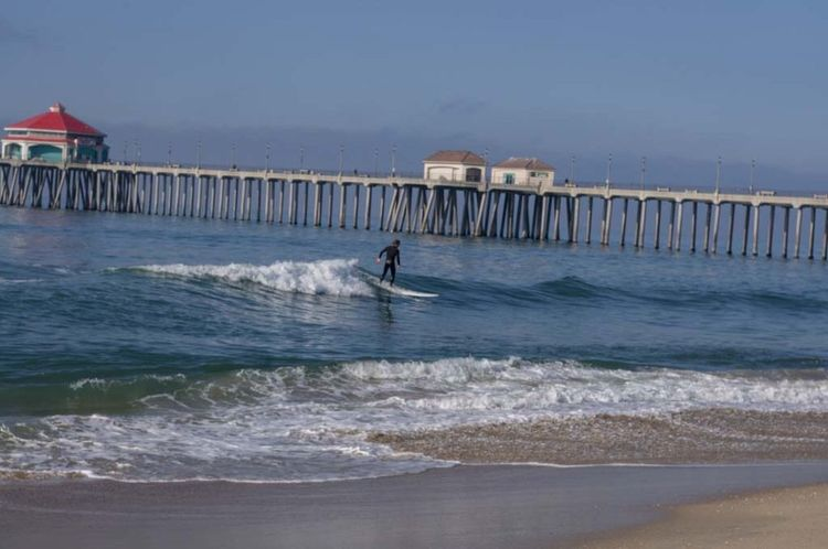 Sea Water Built Structure Wave Architecture Outdoors Sky One Person Nature Nautical Vessel Day Beach People Hb Pier Huntington Beach Surfer Surf's Up Huntington Beach CA Aquatic Sport Wave Surfboard Surfing Lifestyles Surflinelocalpro Extreme Sports