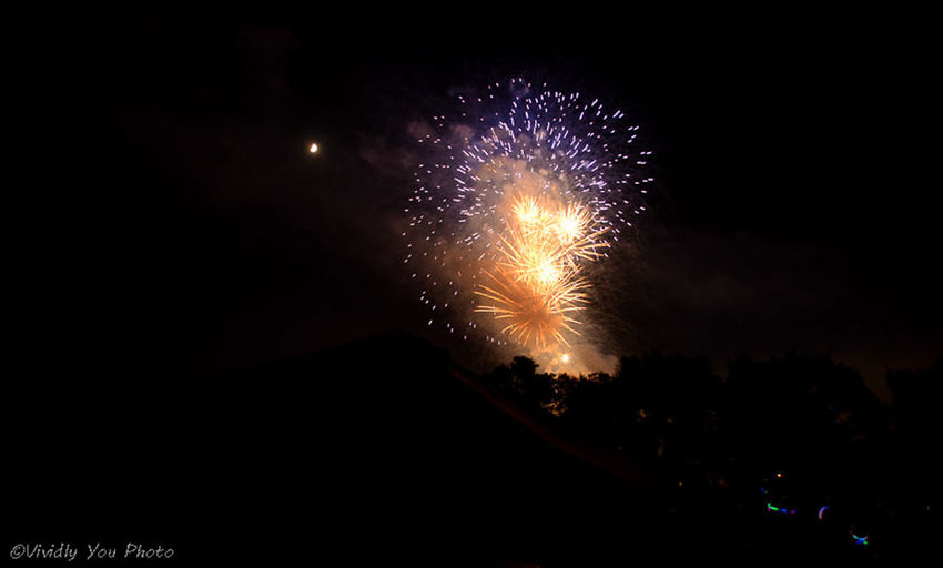 Firework @Fort Collins Silhouette Stree Photography