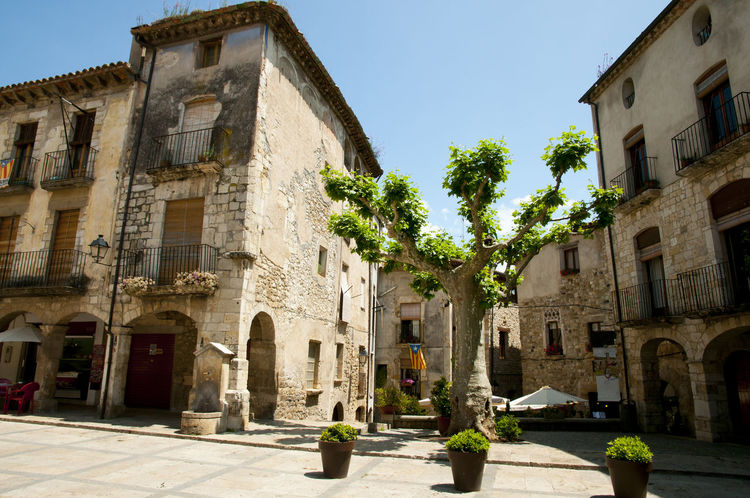 Main Square - Besalu - Spain Besalú SPAIN Architecture Building Exterior Built Structure City Cobblestone Day History Main Square No People Outdoors