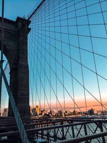 #brooklynbridge Bridge - Man Made Structure Connection Engineering Built Structure Suspension Bridge