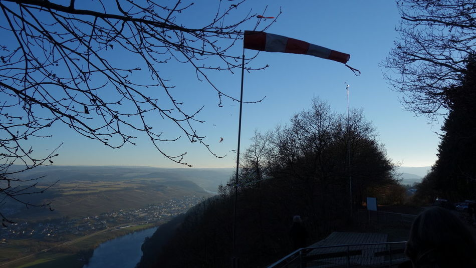 Day Formation Flying Hangglider Hanggliding Mosel River In Germany Moselle Nature Outdoors Sky Windsock