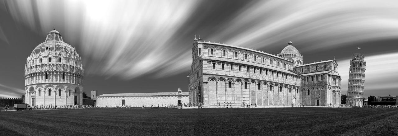 Pisa historic monuments against sky