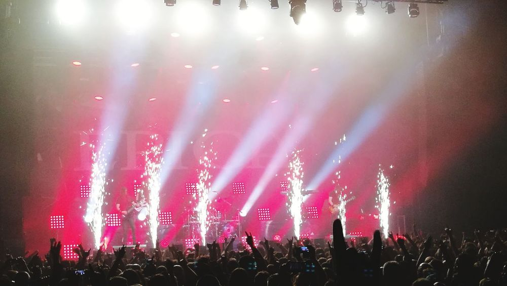 Popular Music Concert Crowd Audience Fan - Enthusiast Rock Music Illuminated Nightlife Performance Excitement Music