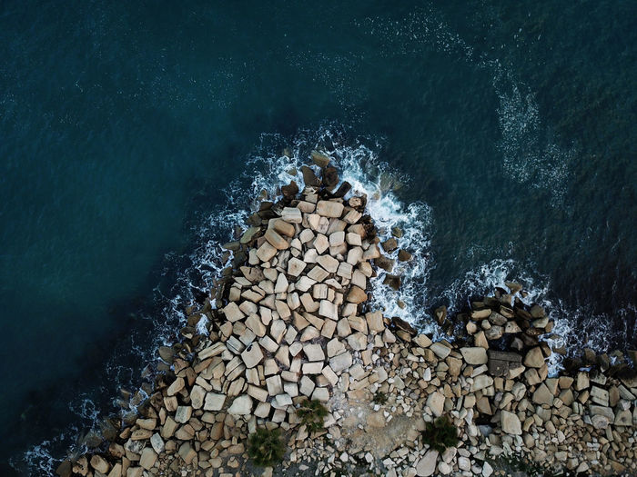 Cyprus Drone  Rock Beauty In Nature Blue Breaking Day Drone Photography Dronephotography Groyne Limassol Motion Nature No People Outdoors Pebble Pebble Beach Rock - Object Rocks Rocks And Water Scenics Sea Seaside Water Wave