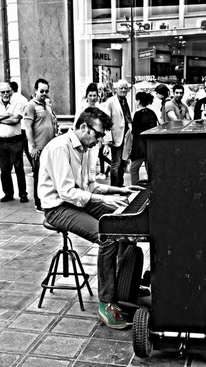 For The Love Of Music Playing from His Heart & Soul.., in Antwerp, Belgium Feel The Rhythm The Piano Man He's Got The Blues Soul Man Street Musician