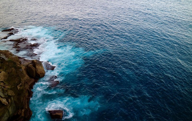 Waves crashing against malabars coastline.... Nature High Angle View Sea Beauty In Nature Scenics Blue Day Water Outdoors Wave Malabar Sydney Discovering Discovernsw