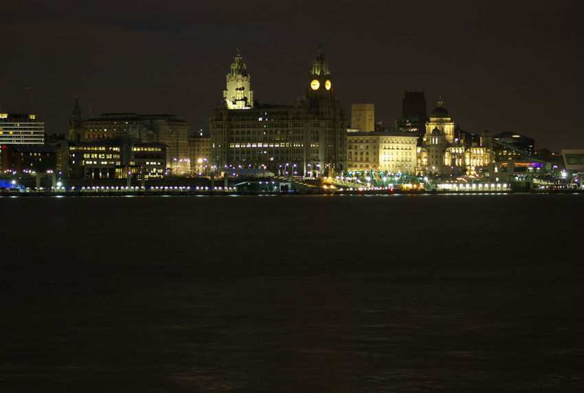 Architecture Building Exterior Illuminated Built Structure Night City Lighting Equipment Outdoors Sky Waterfront Urban Skyline City Life No People Tall - High Spire  Tall Financial District  River Mersey Cities At Night The Liver Building Liver Building Liverpool Cityscape Liverpool City Cityscape City Life