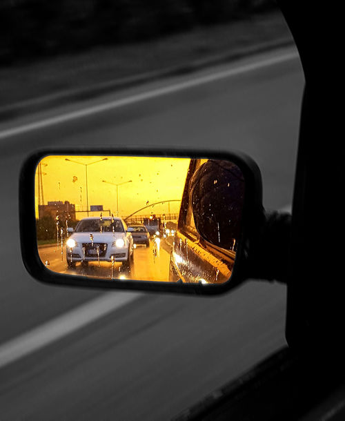 Car Car Interior Close-up Day Driving Land Vehicle Mode Of Transport No People Outdoors Side-view Mirror Transportation Vehicle Interior Vehicle Mirror