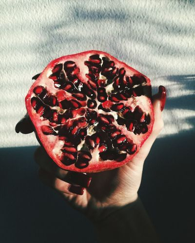 Red Pomegranate Seed No People Day Indoors  Close-up Fruit Pomegranate Red Fruit Artphotography