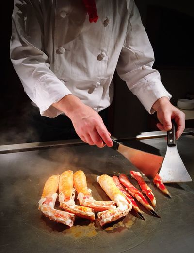 Food And Drink japanese Tepanyaki Chef Best Japan Tradition Dish Hokkaido,Japan Freshness Temptation Healthy Lifestyle Cooking Place To Check In People And Places