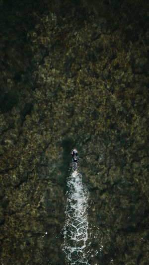 bird view DJI Mavic Pro DJI X Eyeem Drone  EyeEm Best Shots EyeEm Nature Lover EyeEm Selects EyeEmNewHere Nature Ocean View Surf Adventure Beauty In Nature Day Dronephotography High Angle View Motion Nature Ocean One Person Outdoors Sea Sport Surfing Swimming Water