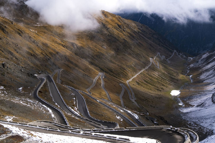 View of passo dello stelvio famous landmark at italy, wallpaper.