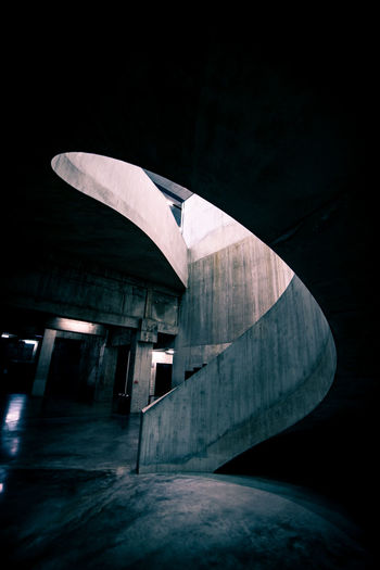 Staircase at parking lot