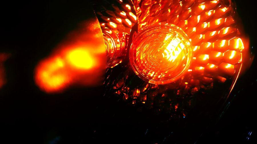 Orange Color Illuminated Lighting Equipment Night Turnsignal Amber Directional Automotivephotography Automobile Parts Black Background Transportation Automobile Automotive