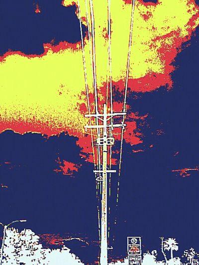 Powerlines Powerline Powerlineporn HighwayToHell Highway To Hell Highway To The Danger Zone Highwaytotrip Posterized Posterizedphoto Posterizedeffect