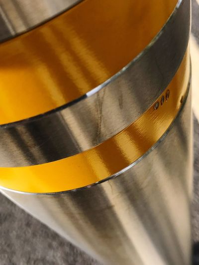 Close-up No People Pole Metal Metallic Yellow Silver  Lines And Angles Gold Colored Day