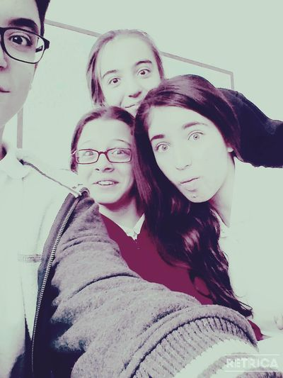 Friends ❤ At School Excited :)
