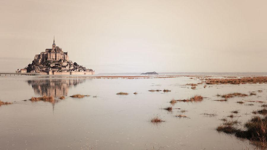 Mont-saint-michel, sepia effect, normandy, france