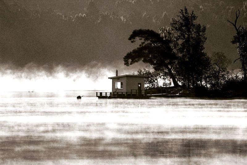 Misty Morning Breathing Fresh Air Amazing View Nature_collection EyeEm Nature Lover Water_collection Smoke On The Water Blackandwhite Monochrome Fortheloveofblackandwhite From My Point Of View Architecture Outdoors Autumn Showcase: November