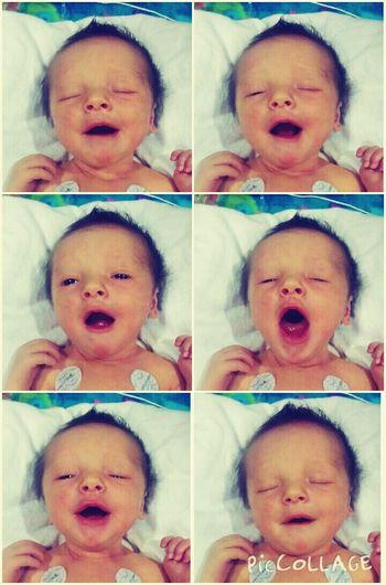 My baby girl!!! 😍 In Love ♡  Babygirl A Big Yawn :))  New Born Baby My Baby <3