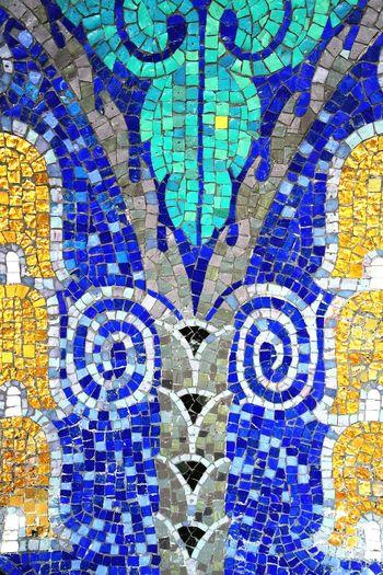 awsome art nouveau mosaic.... Getting Inspired Exhibition EyeEm 5.0 Architectural Detail Photography Deutschland Precision