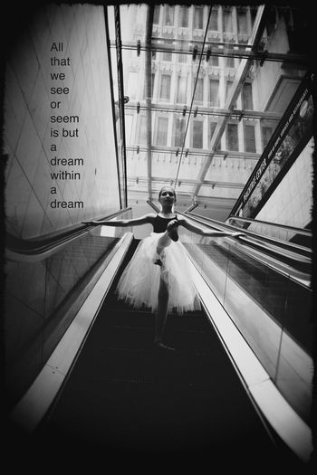 Capture The Moment Ballerina Art Photography ExpressYourself Street Dynamic Cinematic Light And Shadow Eye4photography  Inspire Monochrome Black And White Artistic EyeEm Best Shots Moment Dancer EyeEm Best Edits Artistic Photography Artist Point Of View Parallel Portrait Cityscapes